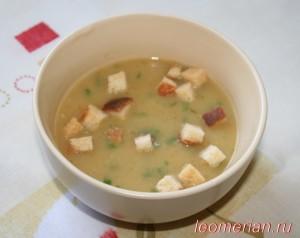 Суп пюре с гренками