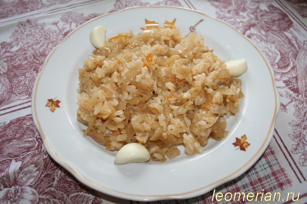 Рис с капустой рецепт с фото