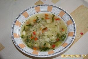 Овощной суп с вермишелью