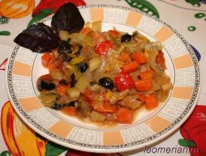 Овощное рагу с маслинами