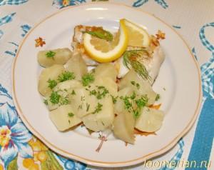 Жареный судак на сковородке-гриль