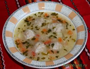 Суп с фрикадельками по-болгарски