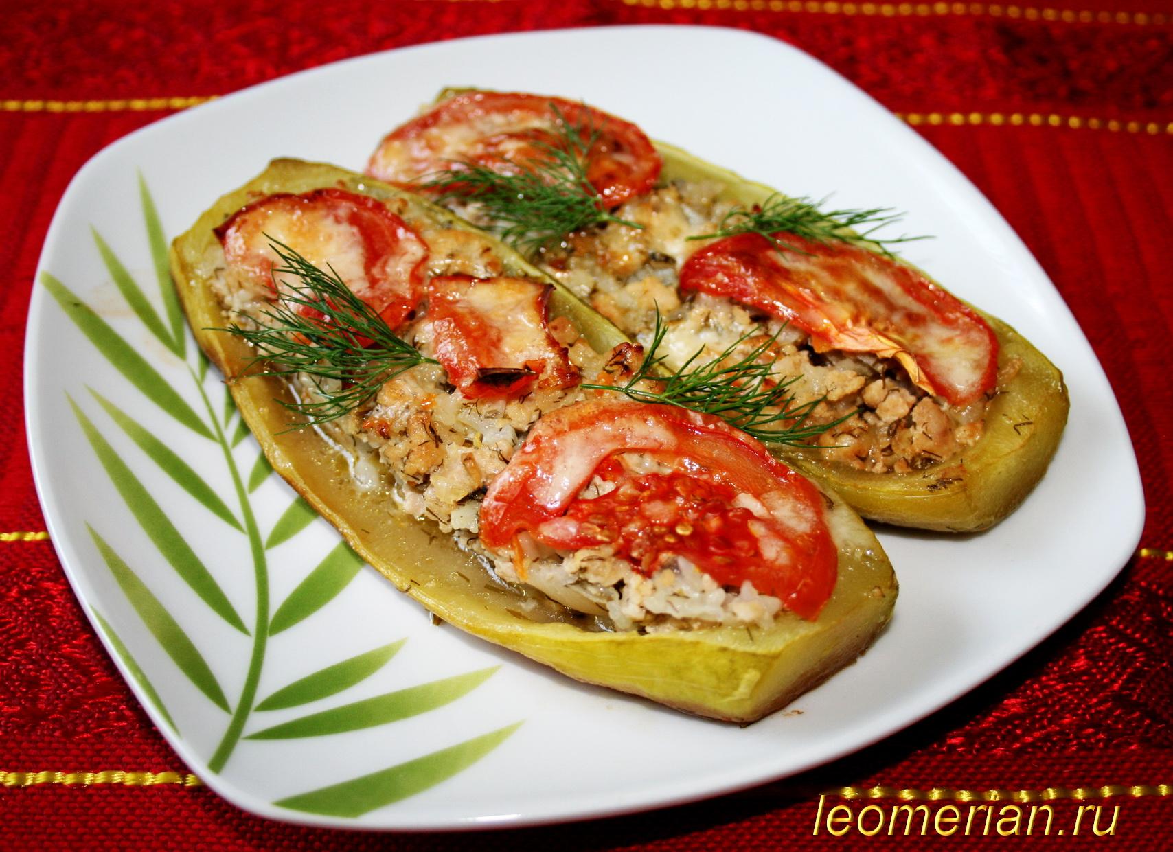 Кабачки фаршированные мясом и рисом рецепт пошагово