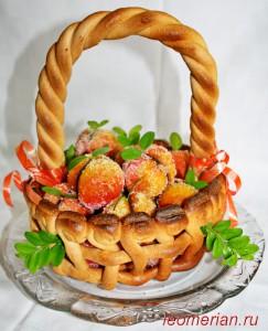 Корзинка с персиками