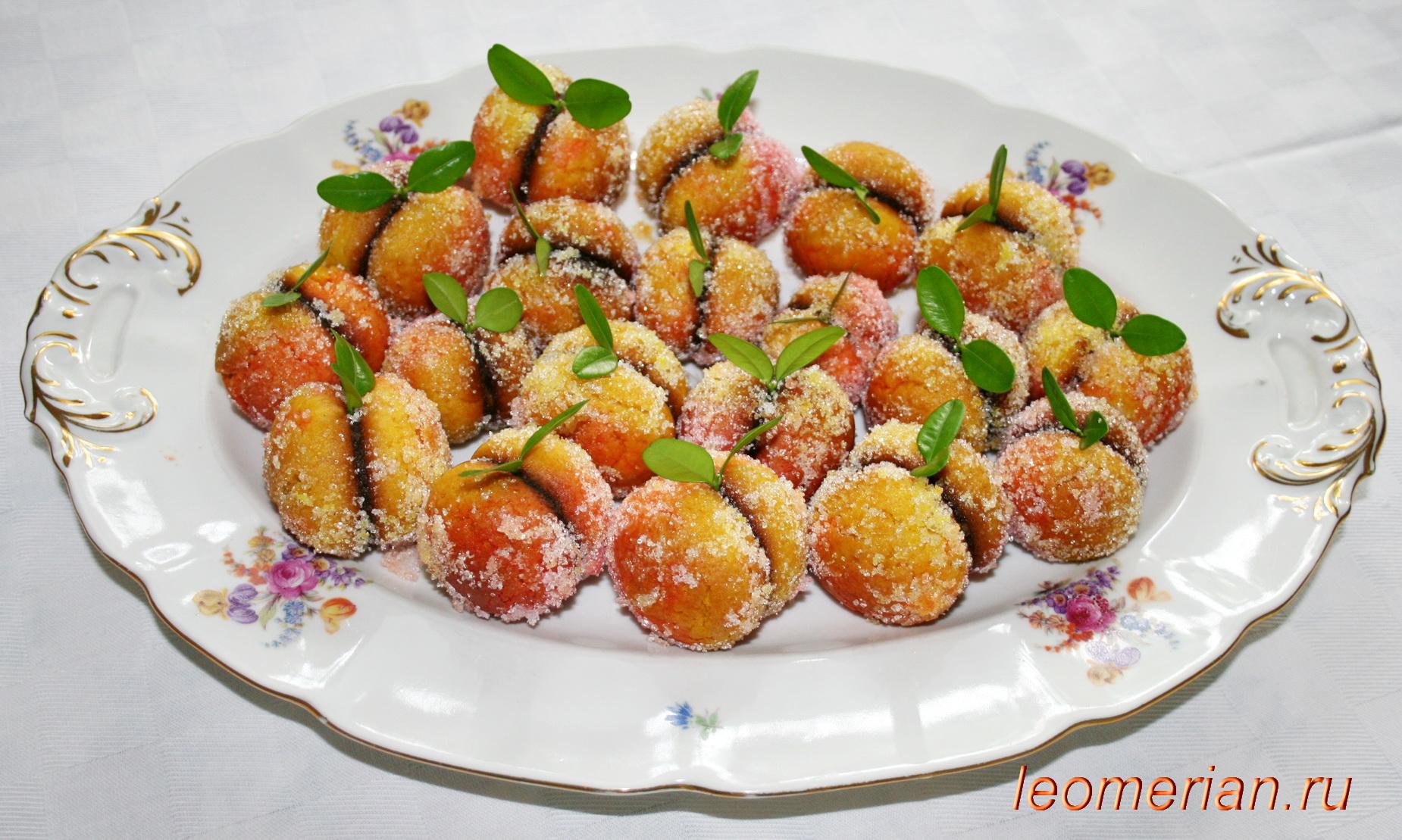 Рецепты с пошаговые печенье персики