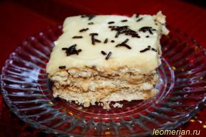 Бисквитный торт с кремом по-болгарски