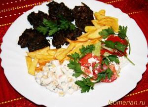 Гусиные сердца, жаренные на барбекю по-болгарски