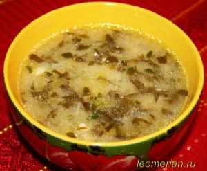 Суп из щавеля шпинатного