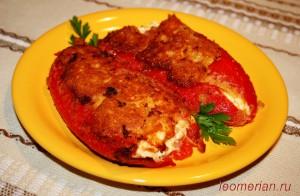 Фаршированный болгарский перец в панировке