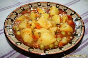 Летнее овощное блюдо по-болгарски