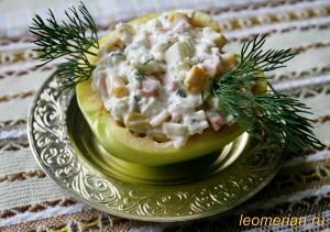 Салат из крабовых палочек по-болгарски