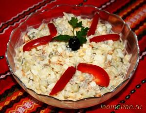 Салат с макаронами по-болгарски