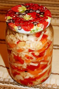 Соление из порезанных овощей по-болгарски