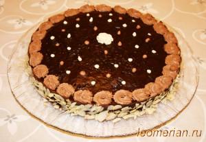 Быстрый торт в шоколадной глазури по-болгарски