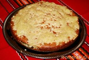 Пирог с индейкой и брынзой