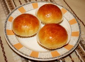 Пирожки с конфитюром и грецкими орехами
