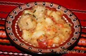 Тефтели с овощами по-болгарски
