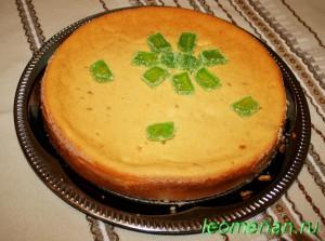 Пирог с творогом и кукурузной мукой