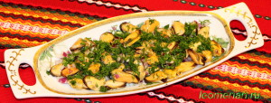 Салат из мидии по-болгарски