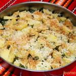 Запеканка со шпинатом и картофелем