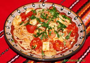 Постные спагетти по-болгарски