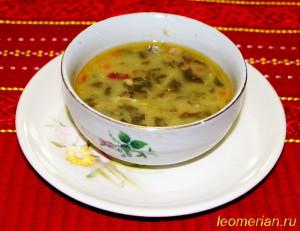 Куриный суп со щавелем шпинатным по-болгарски