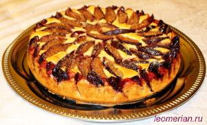 Пирог со сливами по-болгарски