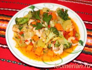 Криветки с овощами по-домашнему